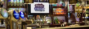 back bar screen advertising in pubs and bars